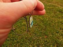 Náhrdelníky - Modrý vtáčik na vetvičke - 8029652_