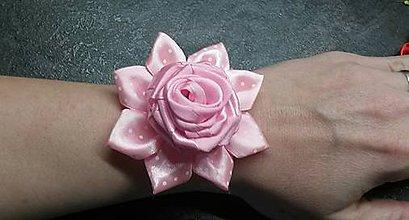 Pierka - Náramok pre družičky ružička bodkovaný kvet - 8029268_