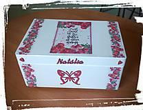 Detské doplnky - Krabica spomienok červená - 8029991_