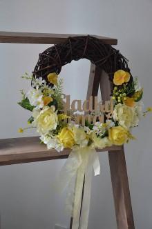 """Dekorácie - veniec """"Kvetinový sladký domov"""" - 8031613_"""