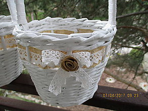 Košíky - košík pre družičky - la Ester - 8029494_