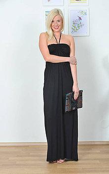 Šaty - Variabilné dlhé šaty - čierne aj vo farbách - 8028760_