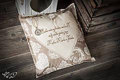 Úžitkový textil - Vankúšik s venovaním - 8033836_