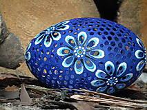 Dekorácie - modré emu pštrosie - 8034625_