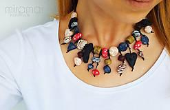 Náhrdelníky - náhrdelník z polymérových kamienkov I. - 8033839_