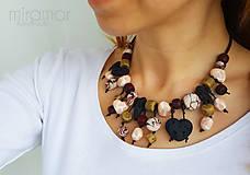 Náhrdelníky - náhrdelník z polymérových kamienkov II. - 8034110_