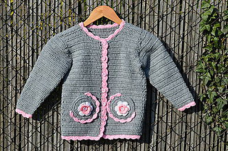 Detské oblečenie - Háčkovaný svetrík - 8034859_