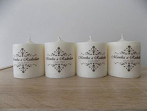 Darčeky pre svadobčanov - Darček a menovka pre svadobčanov - Valec 6x6,5cm - Viac druhov - 8034159_