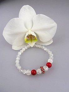 Náramky - Koral krištál náramok kráľovná plesu - 8034919_