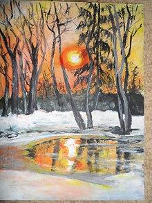 Obrazy - Slnko v kaluži - 8034231_