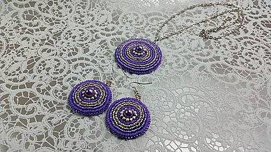 Sady šperkov - Vyšívaná sada šperkov - 8032580_
