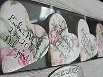 svadobné magnetky s ružami