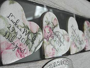 Darčeky pre svadobčanov - svadobné magnetky s ružami - 8032866_