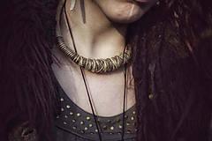 Náhrdelníky - Tribal hemp necklace - 8034366_