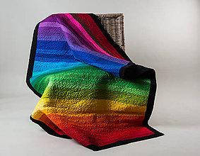 Úžitkový textil - Farebná prikrývka - 8034526_