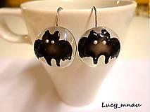 Náušnice - Náušničky netopiere :) - 8033345_