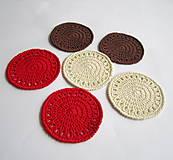 Úžitkový textil - Podložky pod šálky - sada - 8034868_