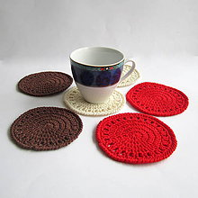 Úžitkový textil - Podložky pod šálky - sada - 8034869_
