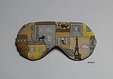 - Maska na spanie - mačacie mestečko - 8033066_