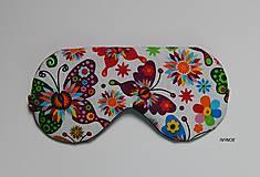 - Maska na spanie - motýliková - 8033106_