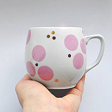 "Nádoby - Hrnček ""ružové bodky"" - 8033164_"
