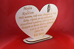 Darčeky pre svadobčanov - Drevene srdiečko ako poďakovanie rodičom 35 - 8032552_