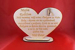 Darčeky pre svadobčanov - Drevene srdiečko ako poďakovanie rodičom 35 - 8032554_