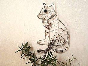 Dekorácie - Mačka - zápich do črepníka - 8039045_