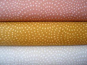 Textil - Bavlna Twist - creme, gold, almond - 8037741_