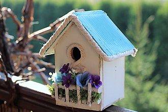 Dekorácie - Búdka pre vtáčiky - 8035341_