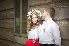 Ozdoby do vlasov - Ľudová kvetinová parta - 8039038_