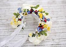 Ozdoby do vlasov - Ľudová kvetinová parta - 8039039_