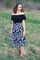 Sukne - Modrotlačová sukňa III. - 8038646_