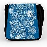Iné tašky - Taška na plece L modrá ornament 16 - 8039209_
