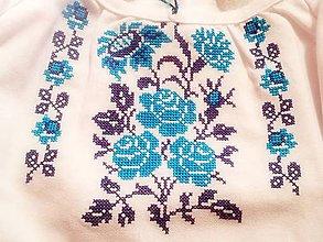 Košele - ľanová košeľa Modrá ruža  vel.46 - 8039385_