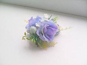 """Ozdoby do vlasov - Gumička do vlasov """"...modré ružičky..."""" - 8035952_"""