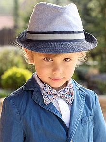 Detské doplnky - Detský slávnostný motýlik z exkluzívnej látky - 8037865_
