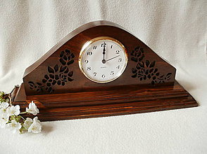 Hodiny - Vyrezávané drevené hodiny - 8036833_