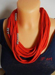 Náhrdelníky - Červený náhrdelník - 8039007_