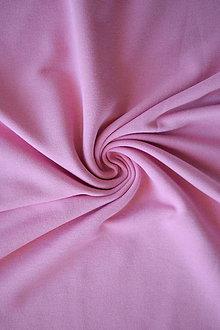 Textil - Teplákovina Micromodal elastická – růžová - 8037334_