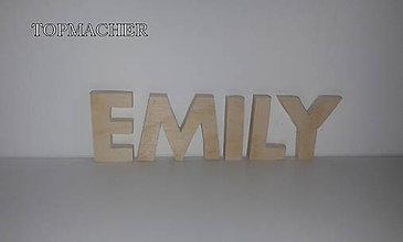 Magnetky - Magnetka drevené písmenká - EMILY - 8037911_
