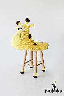 Úžitkový textil - Žirafa Goldy tabureta - stolička - 8037116_