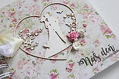 Papiernictvo - Kniha hostí - pár v srdci - 8037217_