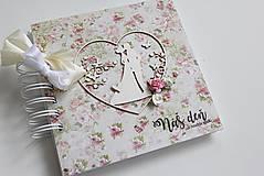 Papiernictvo - Kniha hostí - pár v srdci - 8037218_