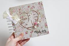 Papiernictvo - Kniha hostí - pár v srdci - 8037220_