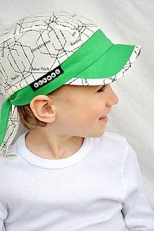 Detské čiapky - Letná pirátka World / green - 8039356_