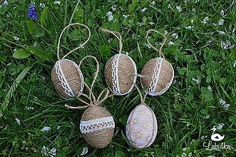 Dekorácie - Špagátové veľkonočné vajíčko - 8036259_