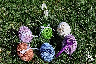 Dekorácie - Veľkonočné vajíčko s mašličkou - 8036705_