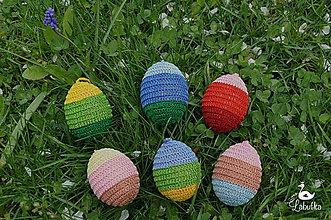 Dekorácie - Pruhované veľkonočné vajíčko - 8039129_