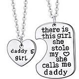 Sada prívesok pre tatina & dcérku s retiazkou